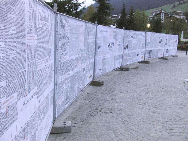 Alpine Skigeschichte - schwarz auf weiß